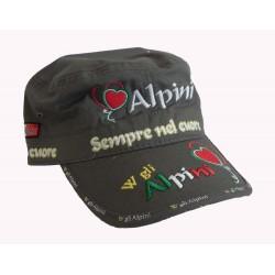 Cappello Visiera Donna Alpini