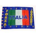 """Bandiera Italia """"Forza Azzurri"""""""