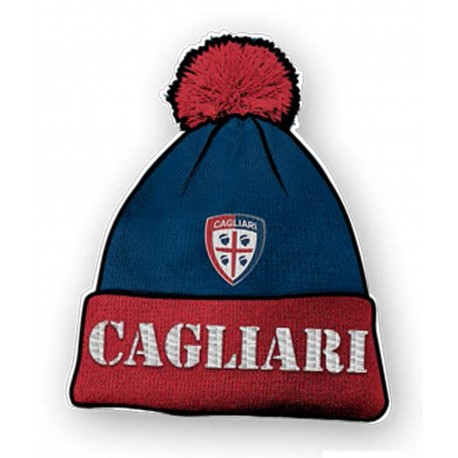 Cuffia Pon-Pon Rosso-Blu Cagliari