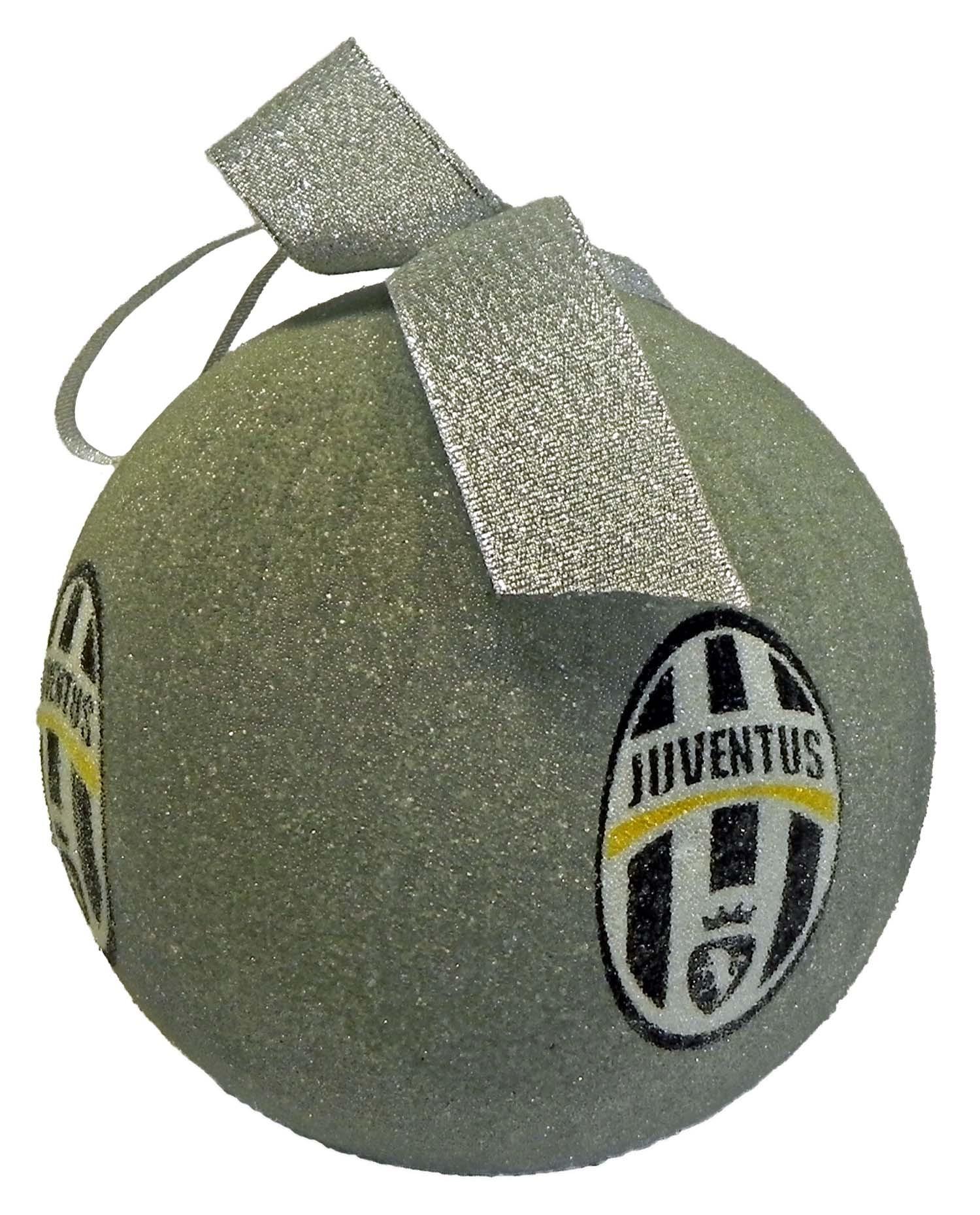 Albero Di Natale Juventus Stadium.Palla Di Natale Juventus Argento