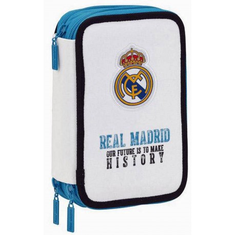Portapenne Bianco Real Madrid