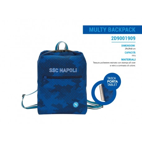 Zaino Multy Backpack SSC Napoli