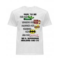 T-Shirt Bianca Supereroi
